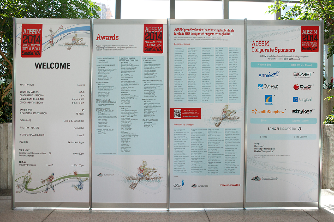 2014 Annual Meeting Signage